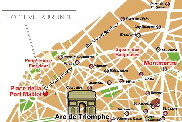 Location villa brunel hotel paris for Rer c porte maillot